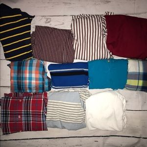 Other - 11 Boys Size 7 and 8 button down shirts and polos